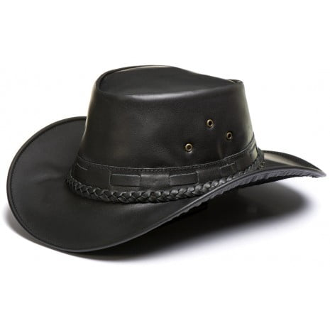 Chapéu Country Estilo Australiano em Couro Legitimo Dobrável L Jacó Fl-307 BLACK FRIDAY