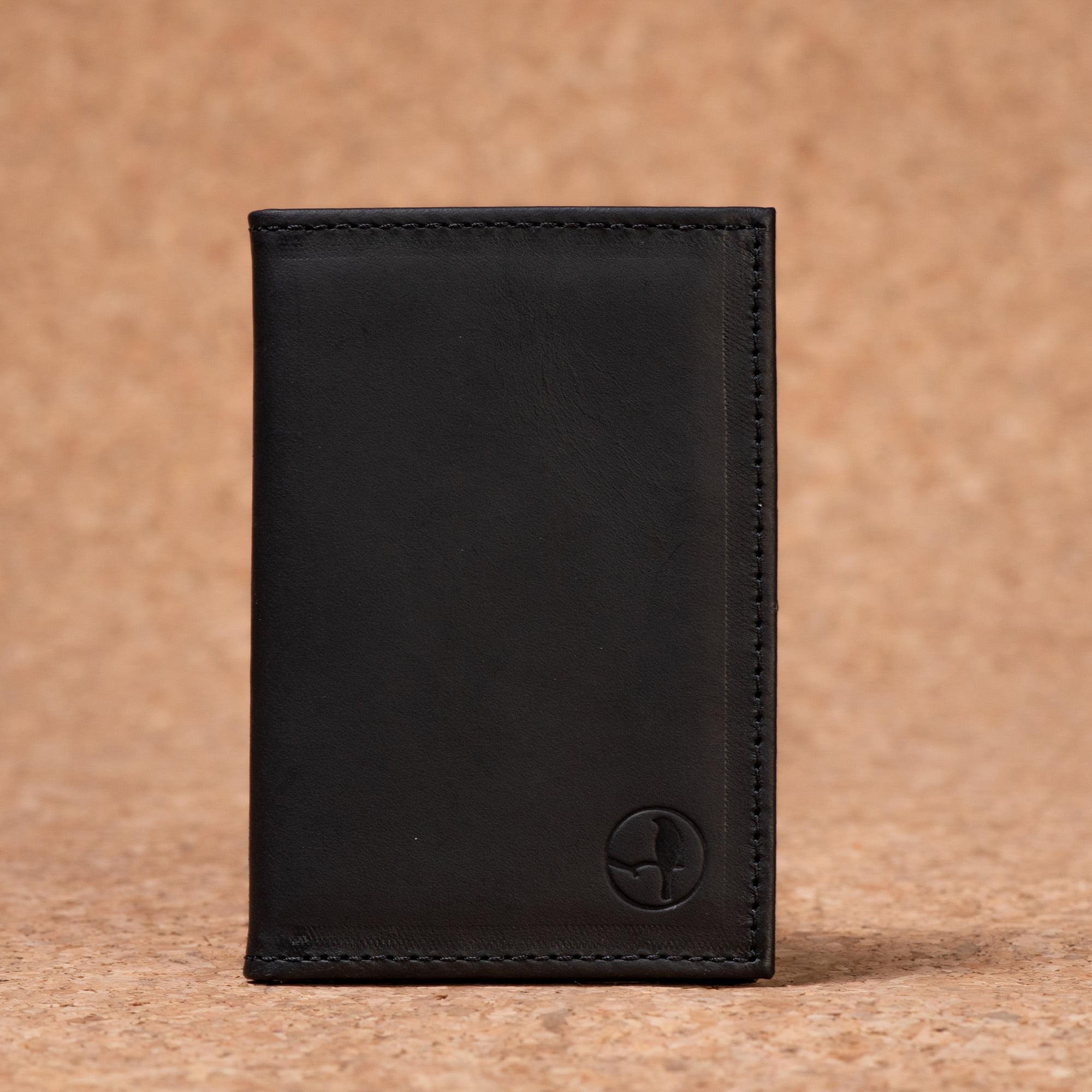 Carteira Porta Cartão Em Couro Preto Latego - CP-3048