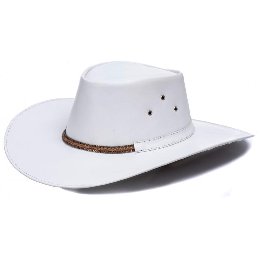 Chapéu Branco Estilo Western Aba Larga L Jacó Wt-712
