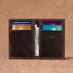 Carteira Porta Cartão Em Couro Tabaco Fossil - CP-3048