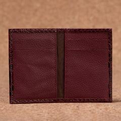 Carteira Porta Cartão Em Couro Vinho - CP-3048