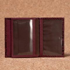 Porta Documentos Em Couro Vinho - PD-3023