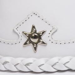 Chapéu Em Couro Legítimo Americano Star Branco L Jacó Am-355 - Cópia (1)