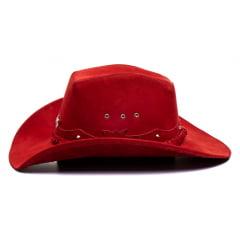 Chapéu Em Couro Legitímo Americano Star Vermelho L Jacó Am-381