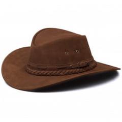 Chapéu Em Couro Modelo Texano Chocolate L Jacó TX-453