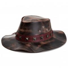kit 2 chapéus rock aba caída e aba larga