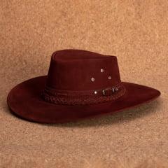 kit 2 chapéus western e aba larga