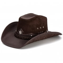 Chapéu Americano Star Preto e Chocolate